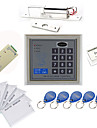 Fristående Åtkomstkontrollerare Set (elektrisk Bolt, 10 EM-ID-kort, strömförsörjning)