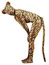 Costume Zentai cu model Animal / Monștrii Zentai Costume Cosplay Maro Mată Coadă / Costum Pisică Spandex Lycra Bărbați / Pentru femei Halloween / An Nou