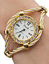 Women\'s Ladies Fashion Watch Bracelet Watch Diamond Watch Quartz Gold Analog Sparkle Bangle - Gold One Year Battery Life / SSUO 377