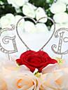 Vârfuri de Tort Nepersonalizat Monogramă / Inimi Nuntă / Quinceañera & Dulcele 16 / Aniversare / Zi de Naștere Ștras Argintiu Temă Clasică