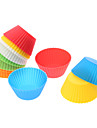 DIY bakning silikon färgglada kaka koppar formar (12-pack)