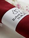 Servetele de nunta - 50pcs Inele de șervețele Nuntă Aniversare Zi de Naștere Petrecere Logodnă Cheful Burlacelor Quinceañera & Dulcele 16