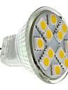 2W 160 lm GU4(MR11) LED-spotlights MR11 12 lysdioder SMD 5050 Varmvit DC 12 V