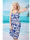 albastru epocă sexy rochie fără spate înot femei (lungime: 150 cm, latime: 105cm)