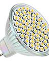 3W GU5.3(MR16) Spoturi LED MR16 60 LED-uri SMD 3528 Alb Cald 2800lm 2800KK DC 12V