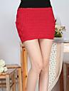 Piața Grid tricotate Pachetul Hip fusta roșie (talie :58-79cm Hip :90-104 Lungime: 56cm)