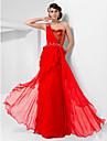 Teacă / coloană un umăr drăguț podea lungă lungime sifon rochie de bal briose cu ts couture®