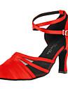 Satin femei personalizate lui superioară cu pantofi de dans Cataramă