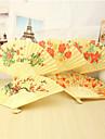 """Ventilatoare de MânăTemă Florală-Ventilator de Mână Clasic-Bumbac Primăvara / Vara / Toamnă 15""""x8 1/3""""x 3/4""""(38cmx21cmx1cm)1""""x8"""