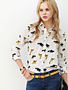 Femeile lui Fox Print Shirt