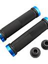 Bike MTB Ultralight Gummi Lock-on Grips (Black & Blue)