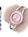 Pentru femei Ceas La Modă Ceas Brățară Ceasuri din Cristal Quartz imitație de diamant Aliaj Bandă Sclipici Brățară rigidă Argint