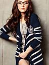 Femei Stripes Tricotaje Coatigan