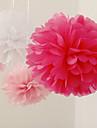 decor nunta 10 inch floare de hârtie - set de 4 (mai multe culori)