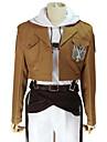 Inspirerad av Attack on Titan Annie Leonhardt Animé Cosplay-kostymer cosplay Suits Enfärgad Långärmad Kappa Topp Byxor Skärp Midje