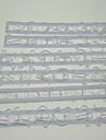 Numărul și litera Forma volan Cutter Sculptura Gum Paste Mold Set de 6 piese