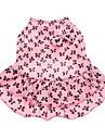 Hund Klänningar Hundkläder Rosett Rosa Kostym För husdjur