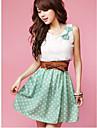 Femei Polka Dot Mini dulce Dress