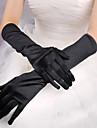 Röd / vit / svart Långa Satin Halloween Handskar för kvinnor