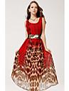 simplitate v-gât rochie leagăn sifon leopard print maxi femei