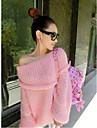 Femei guler cu barca Off pulover Umăr
