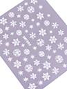 4pcs 3D coloré Blanc Nail Art Stickers séries de neige