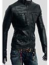 Stand guler inteligent Jacheta din piele pentru bărbați