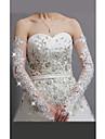 Tul și dantelă degete Opera Lungime nunta / Partidul mănușă cu pietre