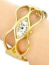 pentru Doamne Ceas La Modă Ceas de Mână Ceas Brățară Quartz Bandă Brățară rigidă Elegant Auriu Auriu/Alb