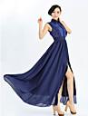 guler pan dantelă simplitate rochie alunecare tiv maxi femei