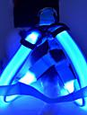 Perro Bozales Luces LED Ajustable / Retractable Un Color Nailon Amarillo Rojo Verde Azul Rosa