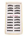 10 paires de maquillage fait a la main Mode Naturelle longue faux cils cils