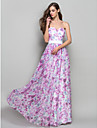 A-line printesa strapless drăguț podea lungime șifon rochie de balet cu beading de ts couture®