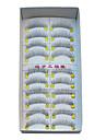 10 paires europeenne microfibre noir faux cils