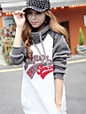 Femei de moda Print Coat Hoodie