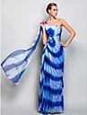 Teacă / coloană un umăr etaj lungime tul rochie de seară cu cristal de ts couture®