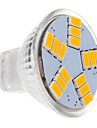 450 lm LED-spotlights MR11 15 lysdioder SMD 5630 Varmvit DC 12 V