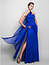 Sheath / Column One Shoulder Floor Length Chiffon Formal Evening / Military Ball Dress with Side Draping by TS Couture®
