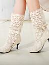 Chunky Heel Boots jumătatea vițel cu bowknot (alte culori)