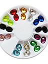 24 Nail Smycken Glitter & Poudre Dekorationssatser Mode Vackert Bröllop Punk Hög kvalitet Dagligen