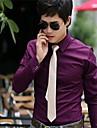 Bărbați tricou Business Dress Shirt Leisure Pure Color maneca lunga pentru barbati Top
