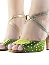 Personalizate pentru femei din satin superior glezna curea Latină / de bal pantofi de dans cu stras Mai multe culori