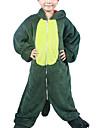 Kigurumi Pijamale Dinosaur Onesie Pijamale Costume Flanel Lână Verde Cosplay Pentru Copil Sleepwear Pentru Animale Desen animat Halloween