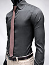 Bărbați Stripe Elegant Slim Fit maneca lunga Shirt