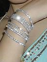 Bărbați Bratari de tenis Design Unic La modă costum de bijuterii Cristal Argilă Diamante Artificiale Bijuterii Bijuterii Pentru Petrecere
