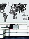 Lettres carte du monde Stickers Muraux Stickers muraux amovibles