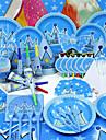 Zi de Naștere Petrecerea Baby Shower Partid Tacamuri - Coarne Palarie Set de Masă Hârtie de înaltă calitate Temă Basme