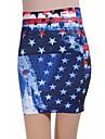 Femei American Flag Tie Dye Jean fusta