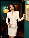 Pentru femei de primăvară Slim Fit Bodycon Dress (Random Belt și Rhhinestone model)