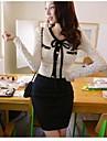 pentru femei v gât dantelă despicare rochie mini